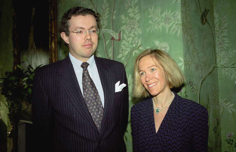 This photo of Nov. 26, 1996 shows Eva Rausing, right, and her husband Hans Kristian Rausing at Winfield House, London, the residence of the US ambassador to the UK attending the Glamour America Fashion Show and lunch. One of Britain's richest women, American-born Eva Rausing, was found dead in her west London home and a man was arrested in connection with the case, British police say, adding that an autopsy had failed to uncover a formal cause of death. Rausing, 48, was the wife of Hans Kristian Rausing, heir to the TetraPak fortune his father built by creating a successful manufacturer of laminated cardboard drink containers. Photo: AP