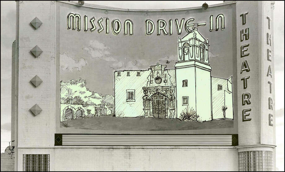 The city, as seen in this undated courtesy rendering provided July 11, 2012, revealed a new design this week for a restored 1948 mural that replaces a man in a sombrero sitting by the Mission San Jose chapel with a yucca plant. Another man with a burro would be replaced with an image of a mission wall and surrounding trees. After hearing mixed reaction at a public meeting, city officials said they may add 'figurative elements representing the native Indian community.' Photo: COURTESY ILLUSTRATION, CITY OF SAN ANTONIO / COURTESY OF CITY OF SAN ANTONIO