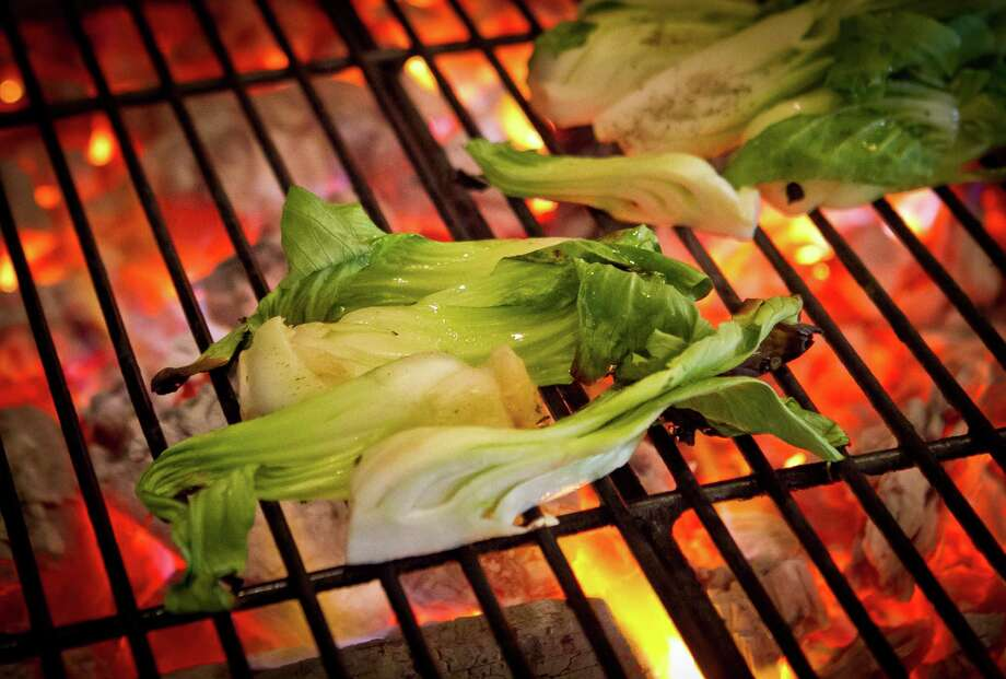 Bok choy being grilled at Comal Restaurant in Berkeley. Photo: John Storey / Special To The Chronicle / ONLINE_Yes