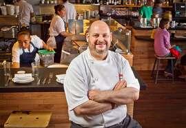 Chef Matt Gandin at Comal Restaurant  in Berkeley, Calif.