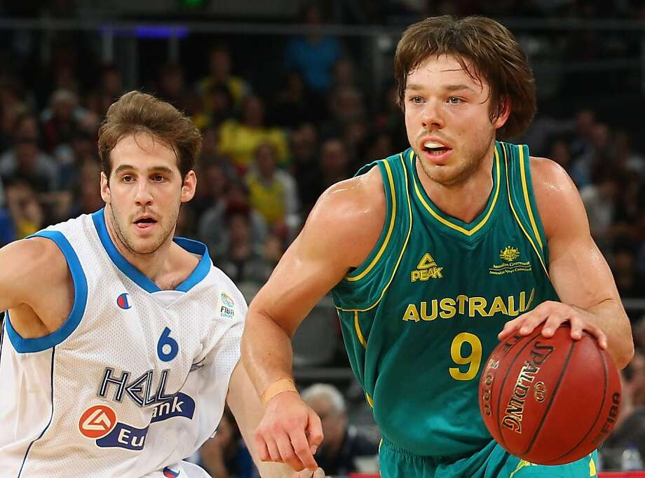 MELBOURNE, AUSTRALIA - JUNE 24: Matthew Dellavedova of Australia runs with the ball during the first match between the Australian Boomers and Greece at Hisense Arena on June 24, 2012 in Melbourne, Australia.  (Photo by Robert Cianflone/Getty Images) Photo: Robert Cianflone, Getty Images