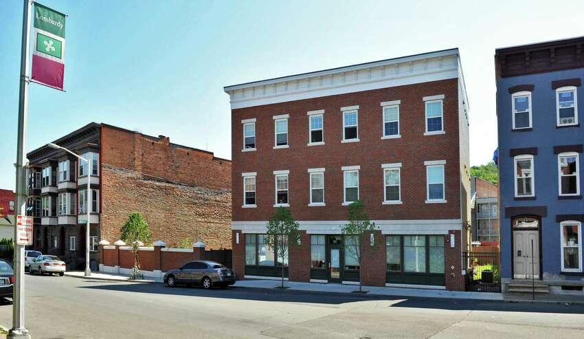 Joseph's House, center, in Troy's Little Italy neighborhood Wednesday July 11, 2012. (John Carl D'Annibale / Times Union)