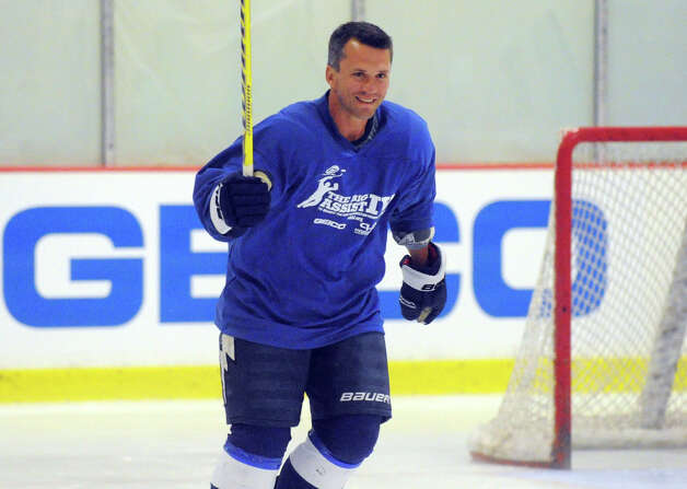 Martin St. Louis on the ice during the Big Assist IV ice hockey exhibition game to benefit the Obie Harrington-Howes Foundation at Terry Conners Ice Rink in Stamford, Conn., July 11, 2012. Photo: Keelin Daly / Stamford Advocate