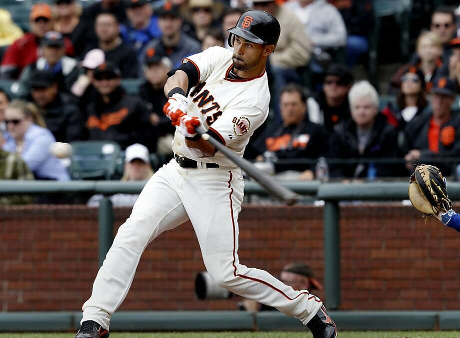 The team is committed to its outfield of Angel Pagan (pictured),Melky Cabrera, and Gregor Blanco. Photo: Brant Ward, The Chronicle