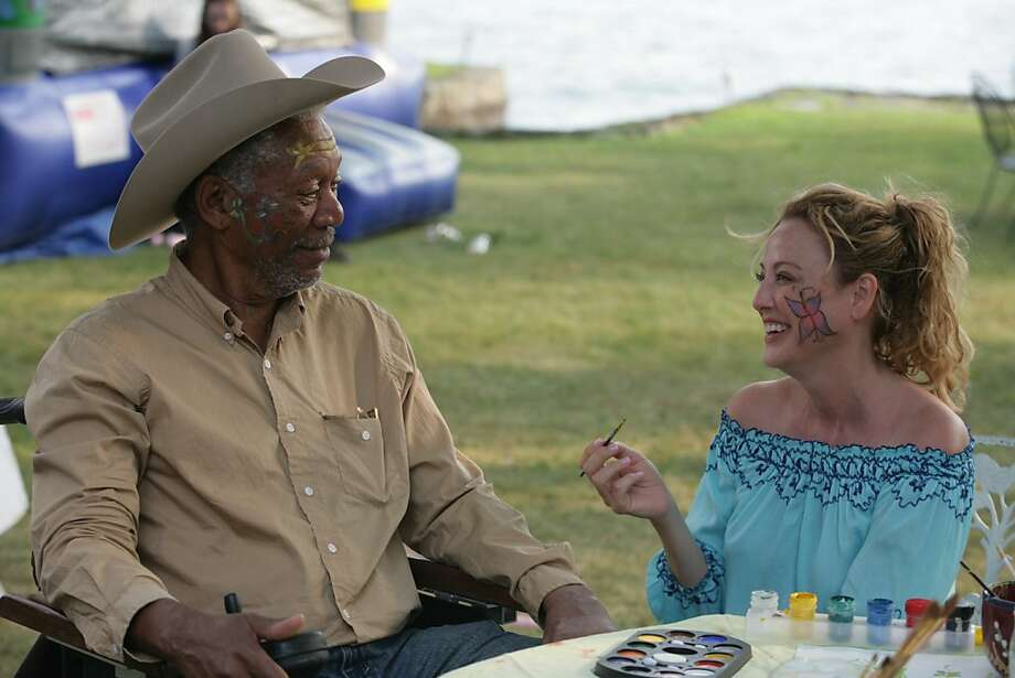 Morgan Freeman and Virginia Madsen in THE MAGIC OF BELLE ISLE, a Magnolia Pictures release. Photo: Courtesy Of Magnolia Pictures