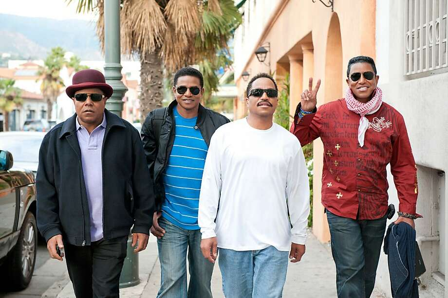 The Jacksons (l. to r.): Tito, Jackie, Marlon, Jermaine. Photo: Krupp Kommunications