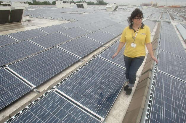Houston Kim Castillo Of Ikea Walks Past The 3 388 Solar