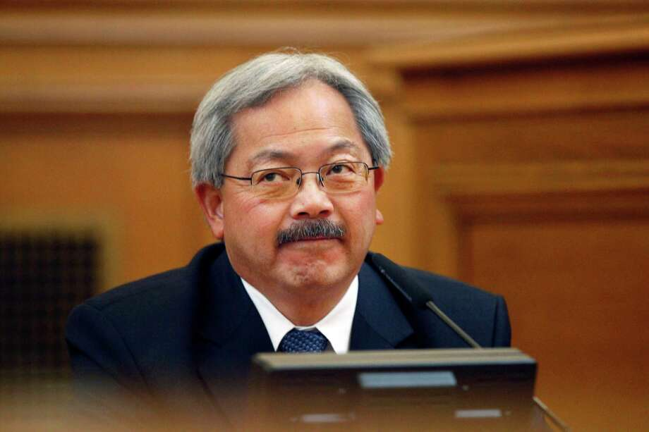 "San Francisco Mayor Ed Lee testifies before the Ethics Commission during suspended Sheriff Ross Mirkarimi's official misconduct hearing at City Hall on Friday, June 29, 2012 in San Francisco. Lee said that he would find it ""extremely difficult"" to work again with Sheriff Ross Mirkarimi if the suspended lawman gets his job back.(AP Photo/San Francisco Chronicle, Lea Suzuki)  NORTHERN CALIFORNIA MANDATORY CREDIT PHOTOG & CHRONICLE; MAGS OUT; NO SALES Photo: Lea Suzuki / ONLINE_YES"