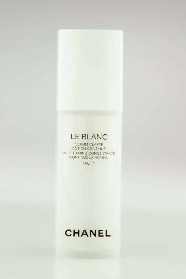 Chanel Le Blanc Brightening Concentrate Continuous Action TXC. Pearl Protein Extract works to correct dull skin while a powerful skin brightener delivers continuous brightening properties for a more radiant complexion; $195 at Chanel counters. Photo: Melissa Phillip / © 2012 Houston Chronicle