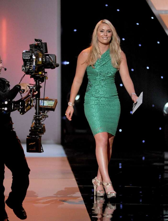 Professional skier Lindsey Vonn walks onstage during the 2012 ESPY Awards at Nokia Theatre L.A. Live on July 11, 2012 in Los Angeles, California. Photo: Kevin Winter, Getty Images / 2012 Getty Images