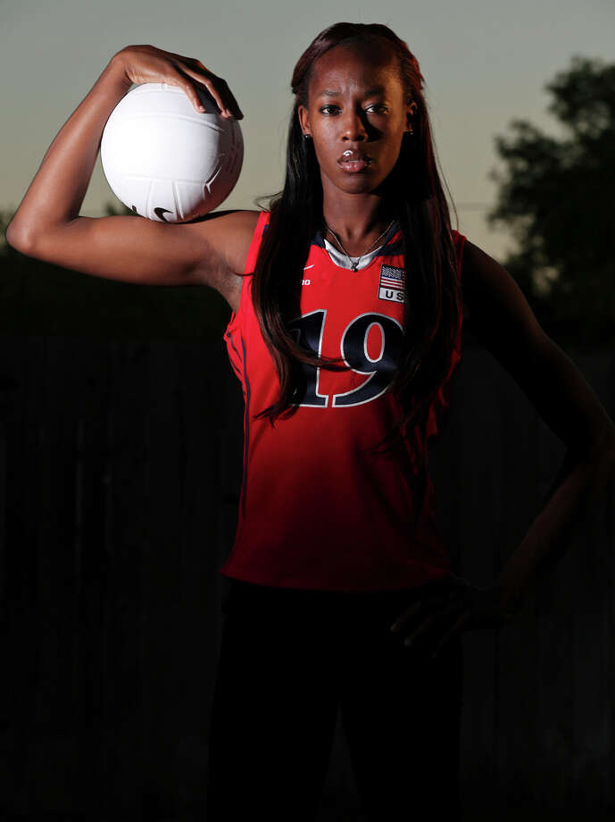 Destinee Hooker: A Southwest grad, she is a member of the USA volleyball that won a silver medal at the 2012 Olympics in London. A three-time Express-News Sportswoman of the Year (2005, 2009, 2011). Photo: Edward A. Ornelas, San Antonio Express-News / © SAN ANTONIO EXPRESS-NEWS (NFS)