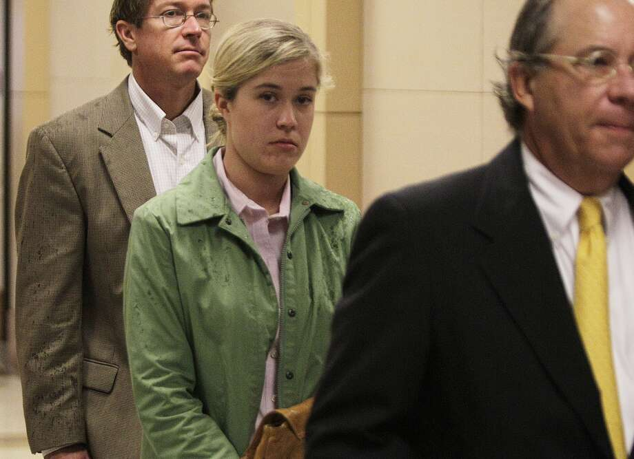 Kathryn Camille Murray, a 28-year-old Spring Branch teacher accused of having sex with a 15-year-old student, arrives to Harris County Criminal Justice Center , 1201 Franklin, Thursday, July 12, 2012. (Melissa Philliip/Chronicle)
