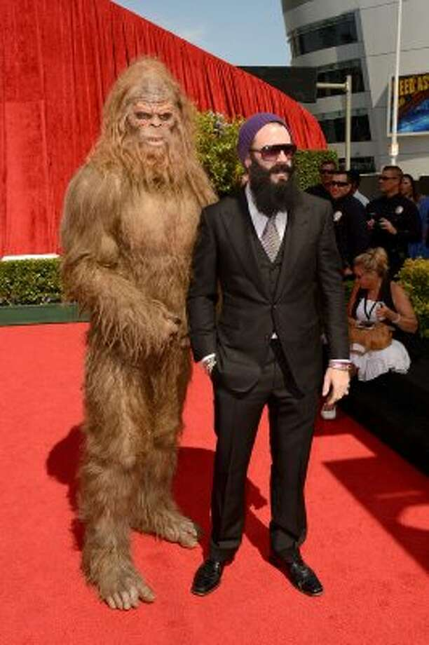 LOS ANGELES, CA - JULY 11: San Francisco Giants Pitcher Brian Wilson and Sasquatch arrive at the 2012 ESPY Awards at Nokia Theatre L.A. Live on July 11, 2012 in Los Angeles, California.  (Photo by Jason Merritt/Getty Images) (Getty Images)