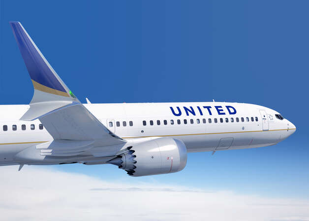 A United Airlines Boeing 737 MAX 9 is shown in this artist's depiction. Photo: The Boeing Co.