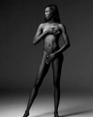 US Volleyball player Destinee Hooker. (Art Streiber)