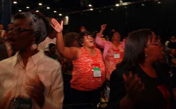 Wanda Wright of Williamsburg, Va., attends the NAACP convention on Thursday, July 12, 2012. Photo: Johnny Hanson, Houston Chronicle