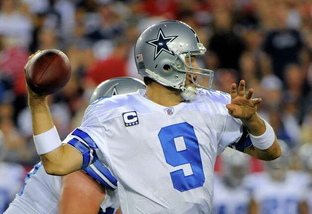 Cowboys quarterback Tony Romo has thrown eight interceptions already this season. Photo: AP
