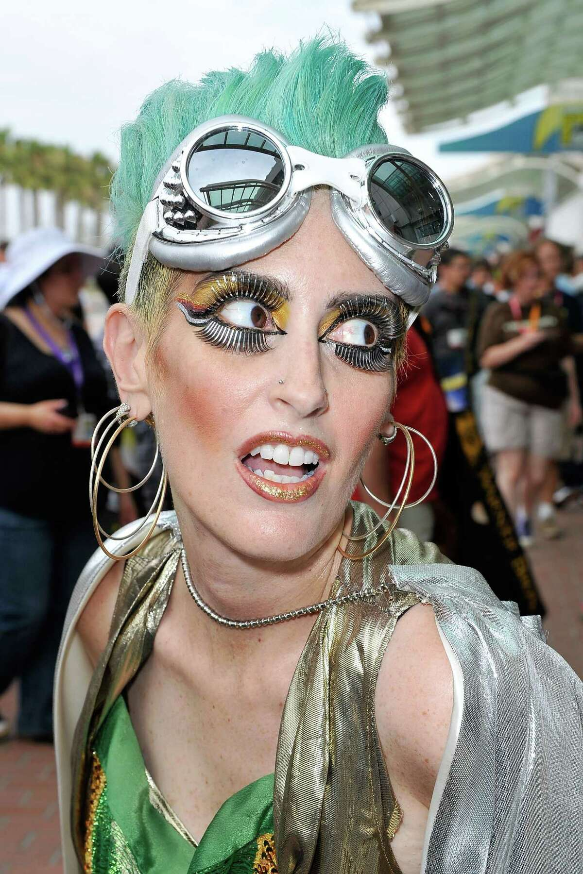 Attendees arrive at the 2012 Comic-Con at the San Diego Convention Center.