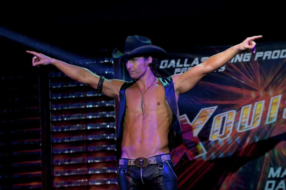 "This film image released by Warner Bros. shows Matthew McConaughey in a scene from ""Magic Mike."" Photo: AP"