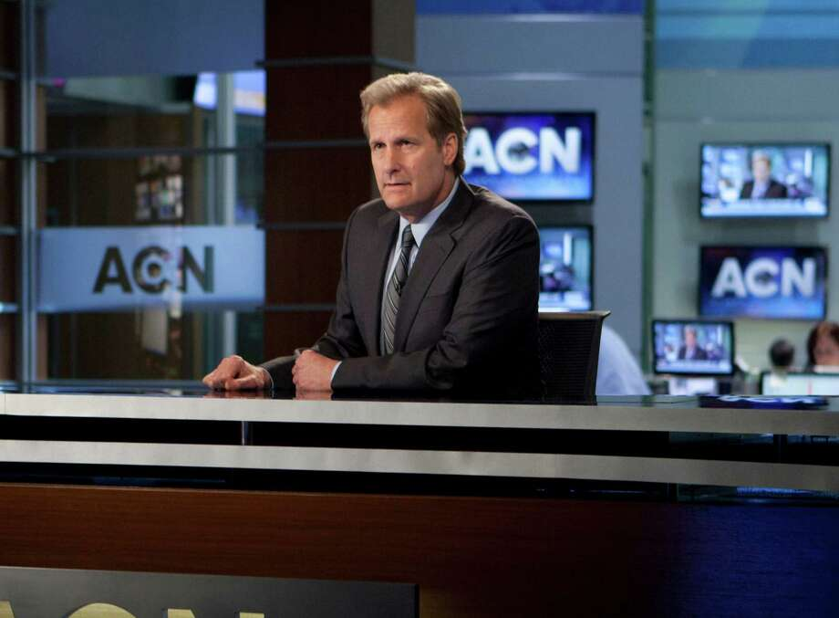 "This image released by HBO shows Jeff Daniels in a scene from the HBO original series, ""The Newsroom.""  HBO announced Monday, July 2, 2012, it's bringing back ""The Newsroom"" and ""True Blood"" each for another season. ""The Newsroom,"" created and written by Oscar-winner Aaron Sorkin, has won a green light for a second season after just two episodes have aired. Though getting mixed reviews from critics, the show attracted a healthy audience for its premiere, totaling 2.1 million viewers.  Set at a cable news network, ""The Newsroom"" features Jeff Daniels, Emily Mortimer, Alison Pill and Sam Waterston. Photo: AP"