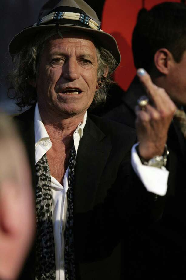 Keith Richards is telling New York who's No. 1 in New York in March 2008. AFP PHOTO/Nicholas ROBERTS Photo: NICHOLAS ROBERTS, Getty / 2008 AFP