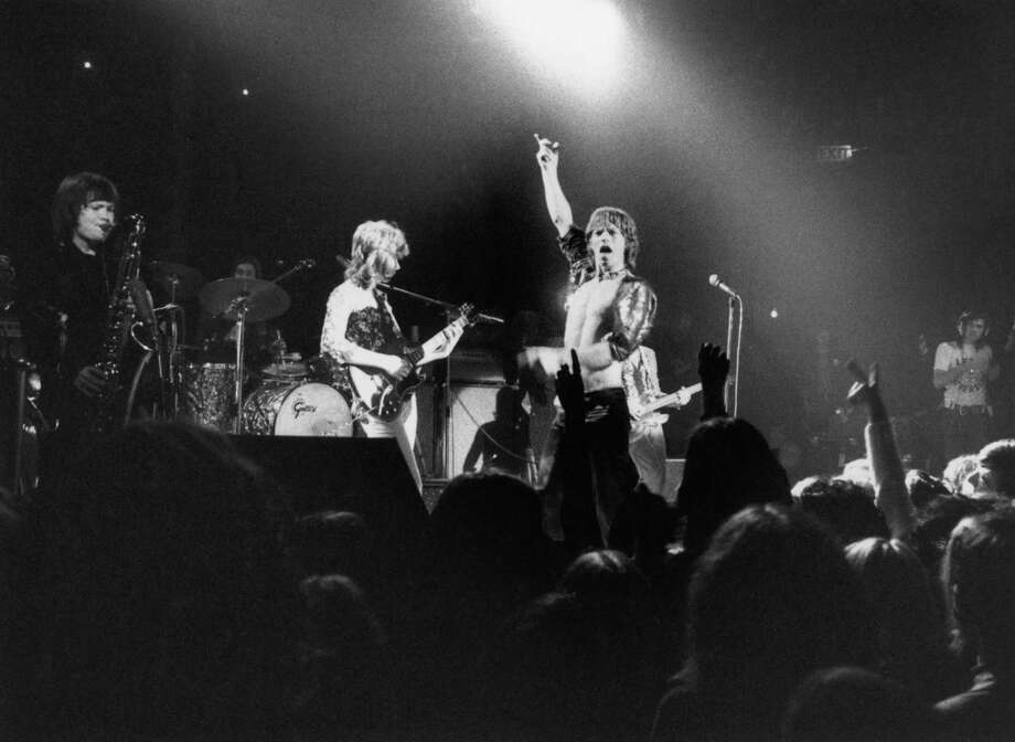 And on and on. The Rolling Stones perform at the Roundhouse, London, March 1971. The band features Bobby Keys on saxophone, left, and Mick Taylor on guitar, center Photo: Evening Standard, Getty / 2006 Getty Images