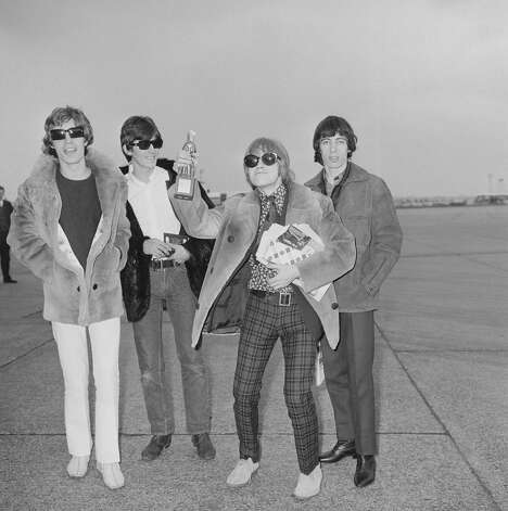It was good to be home. The Rolling Stones at London Airport on their way home after a tour of Denmark, April 6, 1966.   Photo: Ted West, Getty / 2006 Getty Images