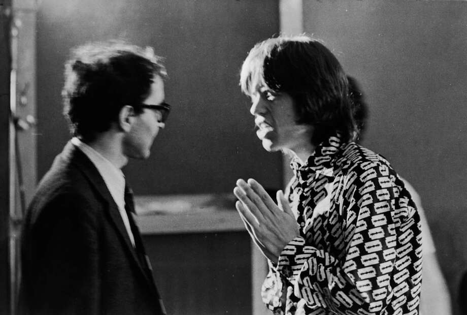 "Famous means directors like Jean-Luc Godard can try to tell Mick Jagger what to do. In July 1968, the documentary ""Sympathy for the Devil"" was being shot. Photo: Keystone Features, Getty / 2005 Getty Images"