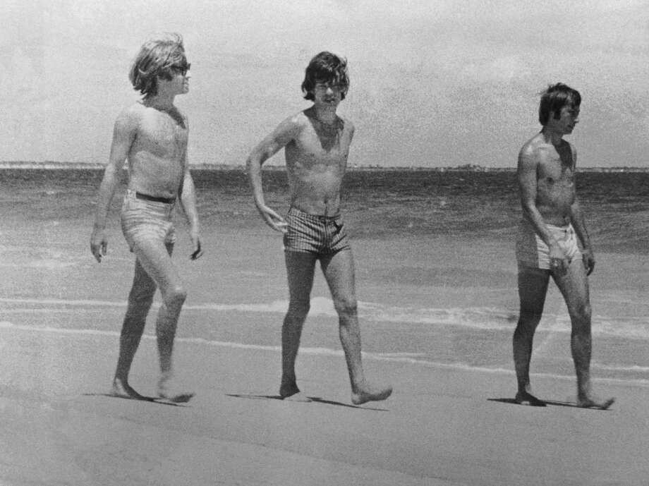 "Not their best look. Rock idols, but Brian Jones, Mick Jagger and Charlie Watts on the beach in Australia in 1965, were not likely to be cast in ""Bay Watch"". Photo: Central Press, Getty / 2006 Getty Images"
