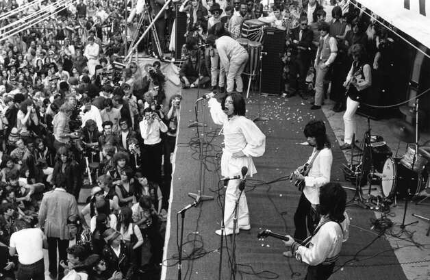 Two days after his death, The Rolling Stones gave a free  concert in Hyde Park in Jones' memory. Photo: Reg Burkett, Getty / Hulton Archive