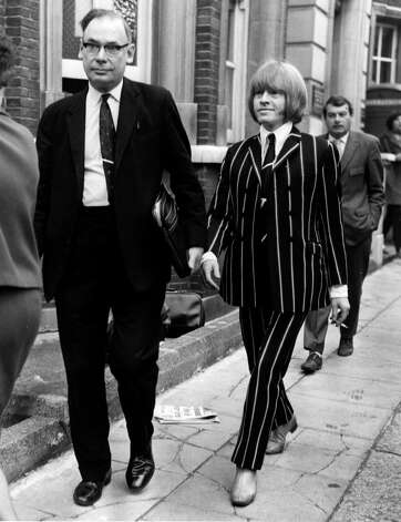 Then in June 1967 it was Brian Jones' turn to face drug charges in court. It's not clear what offense he faced after wearing that suit. Photo: Keystone, Getty / Hulton Archive