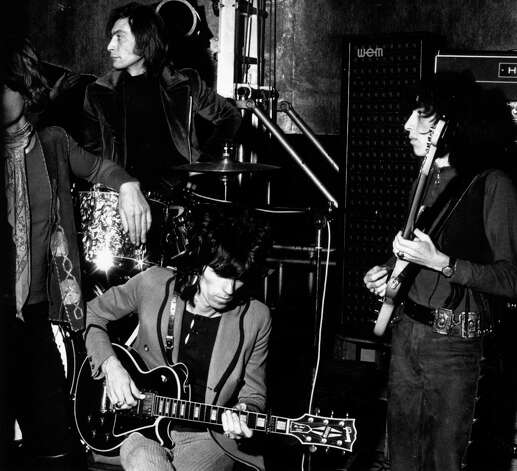 The show, however, went on and on.  The Rolling Stones in rehearsal for a concert at the Saville Theater London in December 1969. Photo: William Lovelace, Getty / Hulton Archive