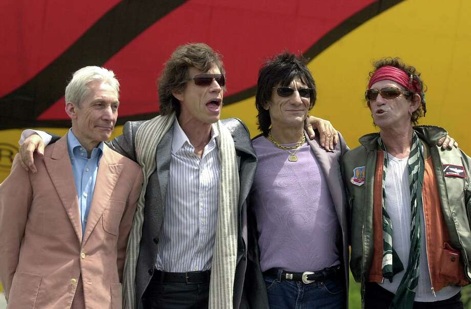 After awhile, you have to come up with some new way to promote a tour. So The Rolling Stones blimp was born in May 2002.  Photo: Keith Bedford, Getty / 2002 Getty Images