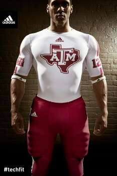 The undershirts for the new jersey will sport the A&M logo over the state of Texas.  (Texas A&M University athletics)