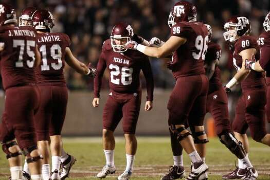 The Aggies broke out in all maroon for their last scheduled game against Texas at home in 2011.  (Patrick T. Fallon / The Dallas Morning News))