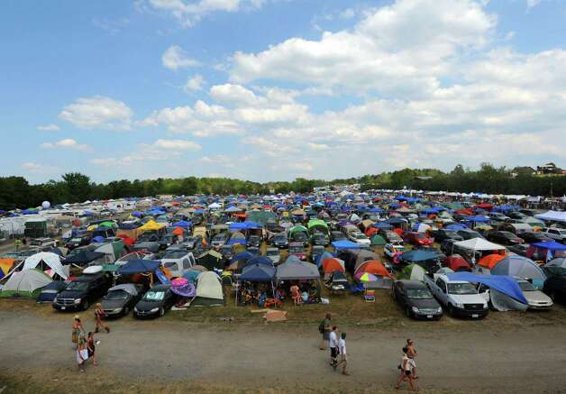 A sea of camping tents as Camp Bisco 11 kicks off in Pattersonville NY Thurssday  July 12, 2012. (Michael P. Farrell/Times Union) Photo: Michael P. Farrell