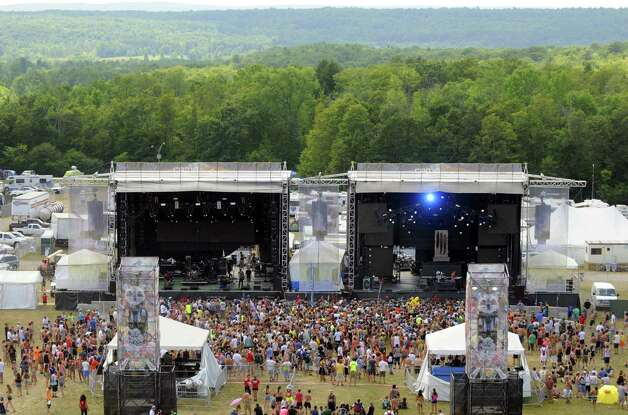 The sounds of Inspired Flight  flow from the main stage as Camp Bisco 11 kicks off in Pattersonville NY Thurssday  July 12, 2012. (Michael P. Farrell/Times Union) Photo: Michael P. Farrell