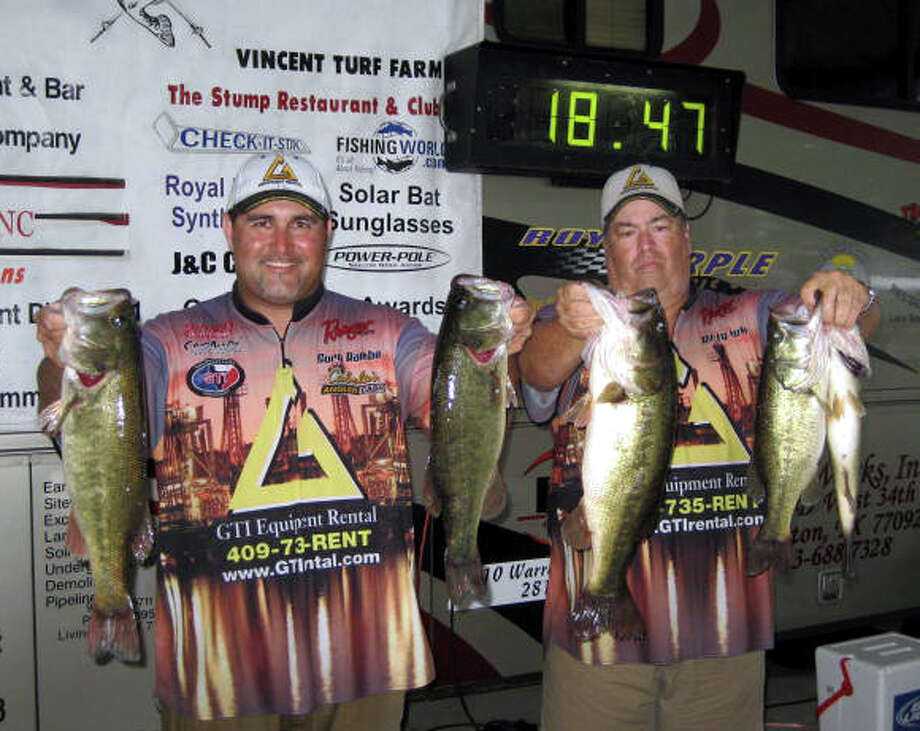 Cory Rambo & Rusty Clark topped the field with their bag of fish that weighed 18.47 lbs.