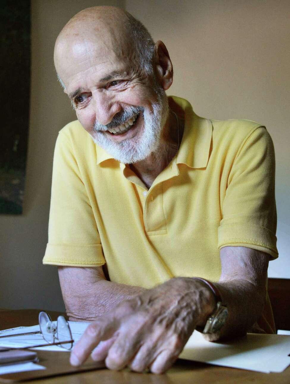 Novelist Eugene Mirabelli, a retired UAlbany English professor who at age 81 has published his 8th novel,