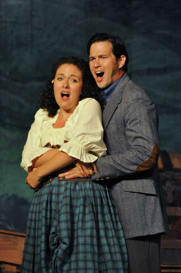 Fiona MacLaren and Tommy Albright (Caitlin and Nathan Mandracchia of Sherman) share a love that transcends time in the musical fantasy ìBrigadoon,î playing outdoors under the stars at Musicals at Richter in Danbury, through July 21.  Tickets are $23 for adults, $18 for seniors, and $15 for children and students. Discounted tickets also available on Sunday evenings. For reservations visit www.musicalsatrichter.org or call 203-748-6873. Photo: News Times Contributed