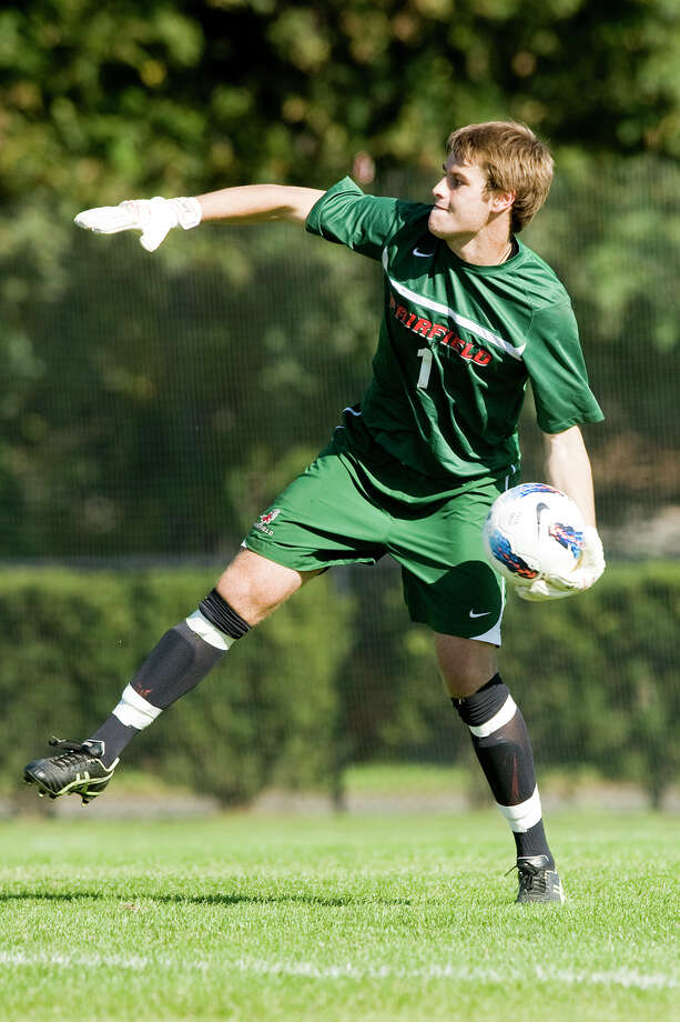 Fairfield University's star goalkeeper Michael O'Keeffe will join New England's soccer team at the upcoming Olympic Games in London Photo: Contributed Photo