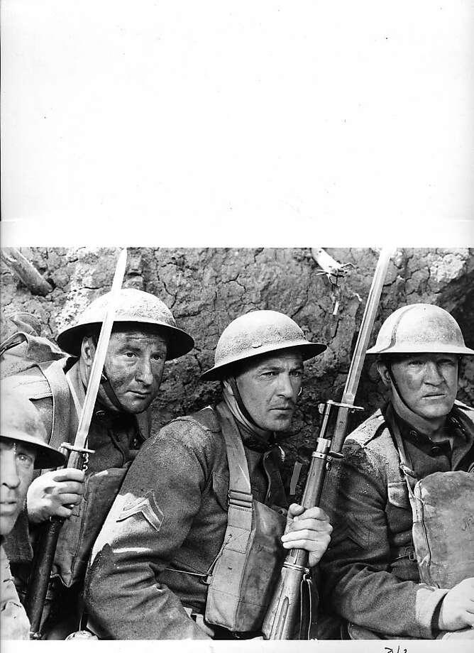 """Gary Cooper, center, in """"Sergeant York."""" Photo: Warner Bros. 1941"""