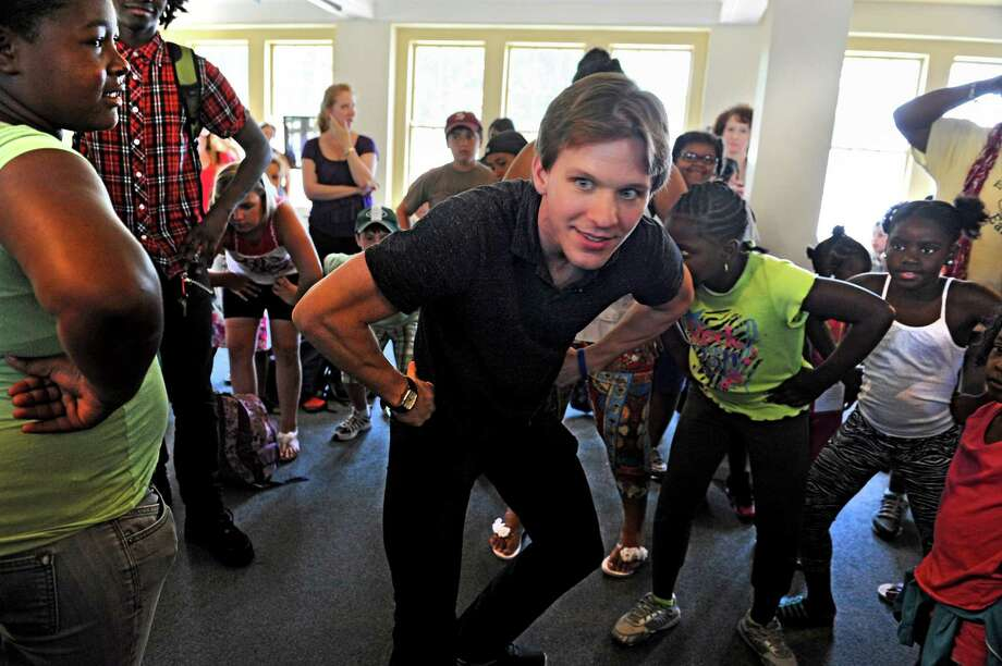 Daniel Ulbricht, the principal dancer for the New York City Ballet, meets with 200 children from youth groups around the region and teaches some techniques at the Museum of Dance Thursday, July 12, 2012 in Saratoga Springs, N.Y. (Lori Van Buren / Times Union) Photo: Lori Van Buren