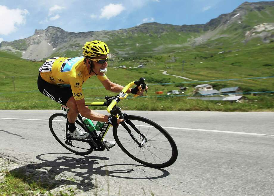 Race leader Bradley Wiggins held his own during the 92-mile 11th stage - from Albertville to La Toussuire - of the Tour de France on Thursday. Photo: Bryn Lennon / 2012 Getty Images