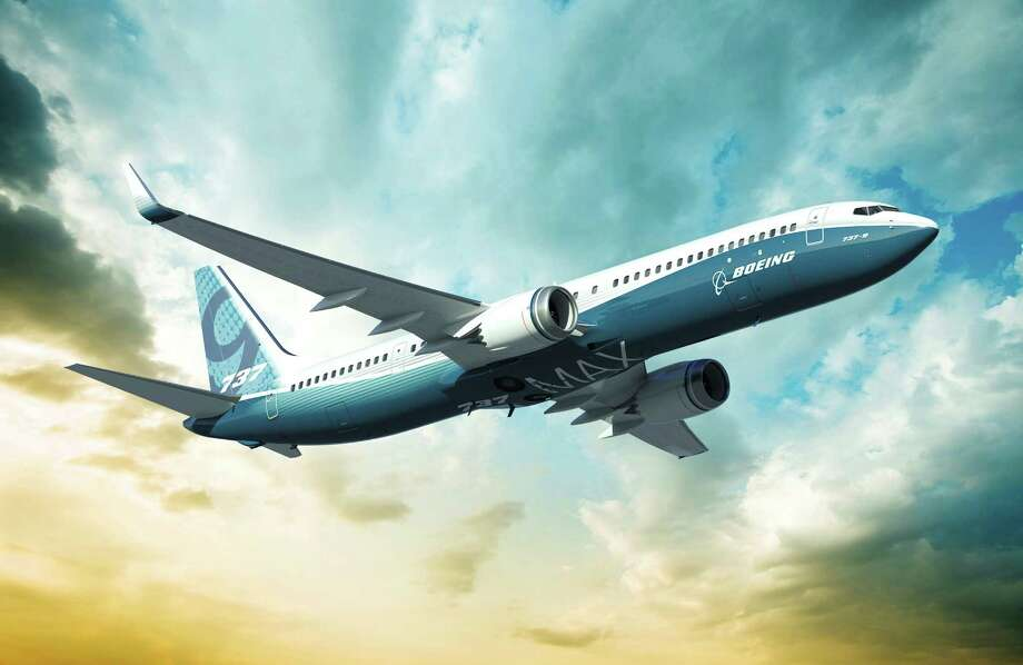 The Boeing Co. 737 MAX 9, a more fuel-efficient variant of the world's most widely flown jetliner, is shown in this image released to the media on Wednesday, Aug. 31, 2011. Boeing is counting on the new 737 MAX to help capture half of a $2 trillion market in the next 20 years and fend off a challenge from Airbus SAS. Source: Boeing Co. via Bloomberg  EDITOR'S NOTE: NO SALES. EDITORIAL USE ONLY. Photo: Via Bloomberg / Boeing Co.