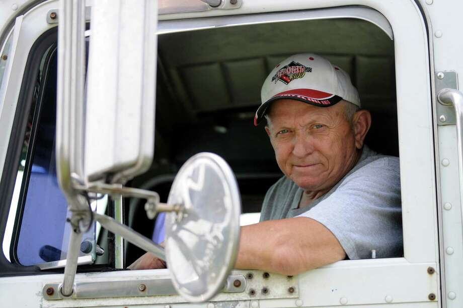 Ed Quackenbush, owner and operator of Warrior Trucking, in the cab of his semi-truck on Saturday, June 30, 2012, at his home in Stillwater, N.Y. (Cindy Schultz / Times Union) Photo: Cindy Schultz / 00018272A