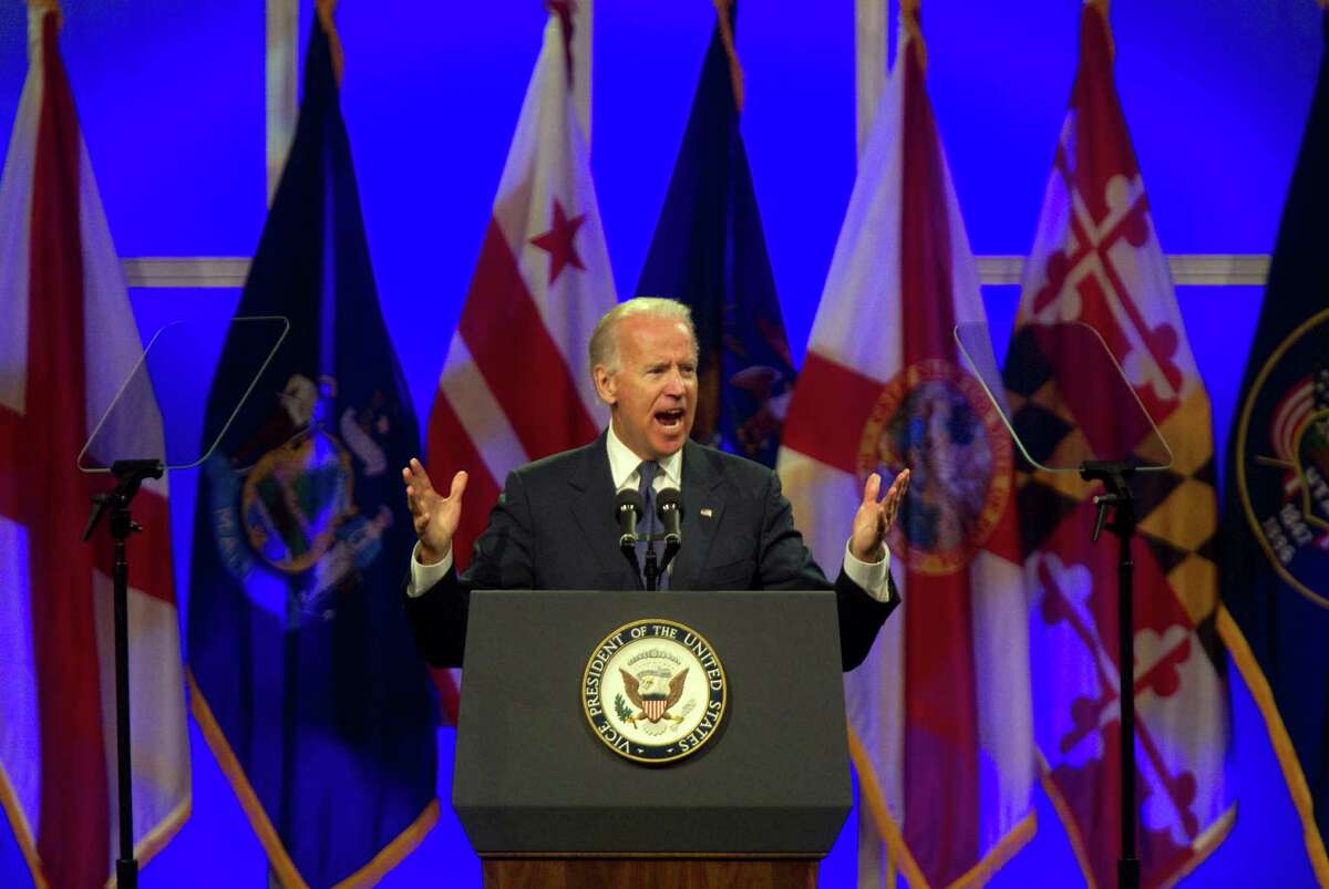 Vice President Joe Biden's impassioned remarks fired up the crowd at the George R. Brown Convention Center on Thursday.