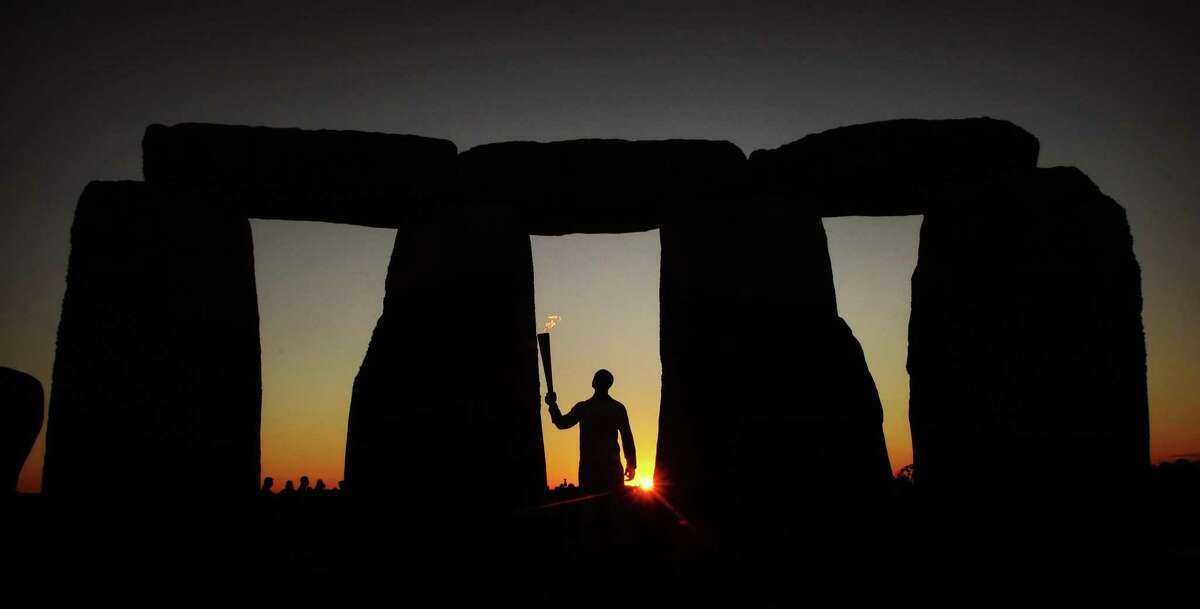 Those wacky Britons Stonehenge in Britain was built between 3000 and 2000 B.C. It is aligned to the winter solstice sunset.