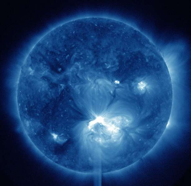 9. This NASA photo of a big solar flare,
