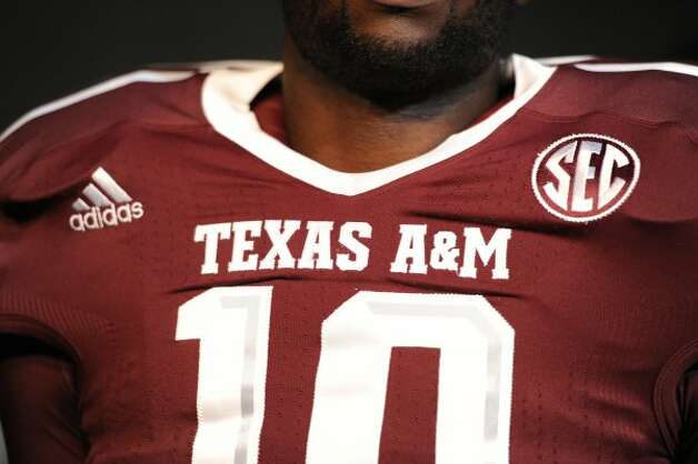 A close-up look at linebacker Sean Porter's jersey.  (Texas A&M University)